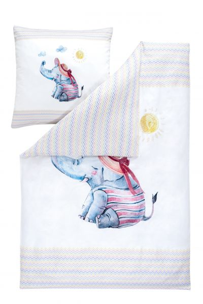 Estella Kinderbettwäsche Kids Elefant Satin