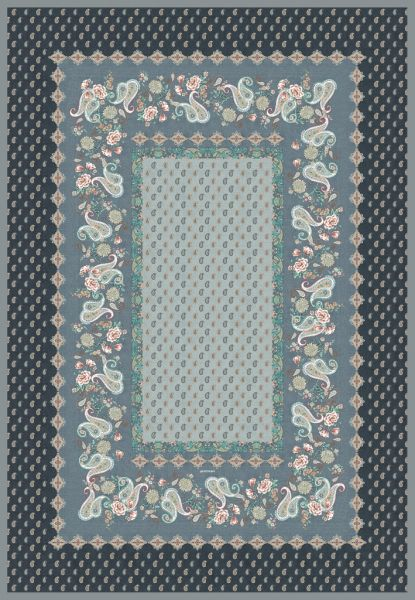 "Bassetti Plaid Tagesdecke ""Fabriano"" Paisley Muster, Col.G1, 135x190cm"
